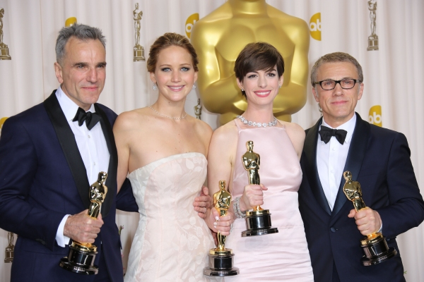 at Lawrence, Hathaway & More at OSCARS Press Room