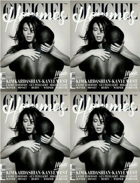 Photo Coverage: Kim Kardashian and Kanye West Pose Nude