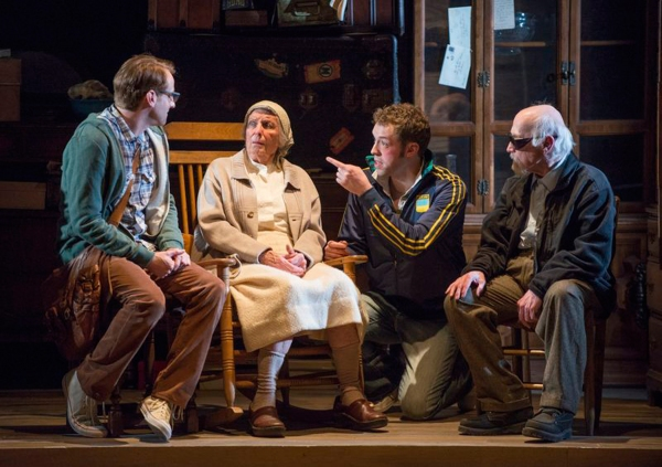 "Brad Smith as ""Jonathan,"" Ann Whitney as ""Old Woman,"" Alex Goodrich as ""Alex""  and William J. Norris as ""Grandfather"""