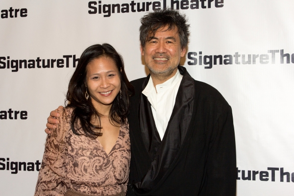 May Adrales, David Henry Hwang at Inside Opening Night of THE DANCE AND THE RAILROAD