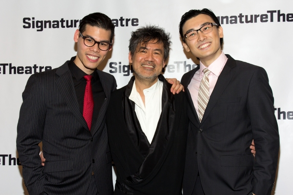 Ruy Iskandar, David Henry Hwang, Yuekun Wu at Inside Opening Night of THE DANCE AND THE RAILROAD