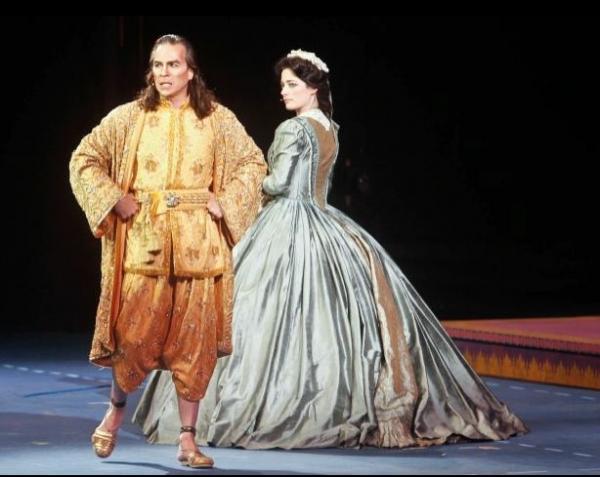 Kevin Gray (King) Michele Kelly ( Anna), King and I, Muny production 2012 Photo