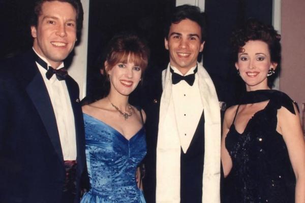 Keith Buterbaugh (Raoul), Dodie Petitt (Meg Giry), Kevin Gray (Phantom), Terri Bibb (Christine) 1991 POTO Tour-photo from dodiepetitt.com