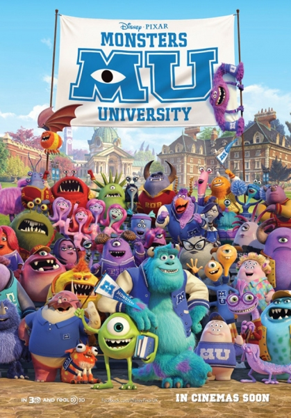 Photo Flash: New Poster Revealed for MONSTERS UNIVERSITY