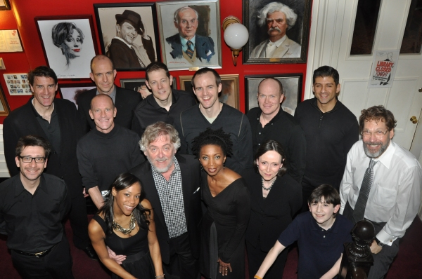 The cast of tonight's performance-Patrick Boll, Christopher Burns, John Bolton, Michael Markham, James Joseph O'Neill,  Tony Yazbeck, Robert Cambeiro, David Drake, Nikki M, James Daniel Davis, Sharon Washington, Donna Karger and Matthew Schechter and jo