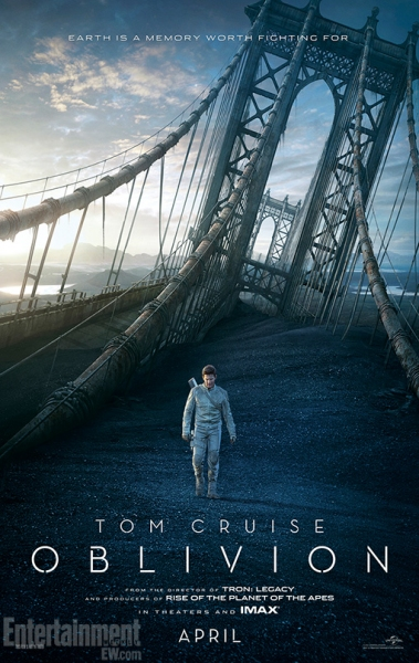Photo Flash: Two New Posters for OBLIVION Released, Feat. Cruise & Freeman