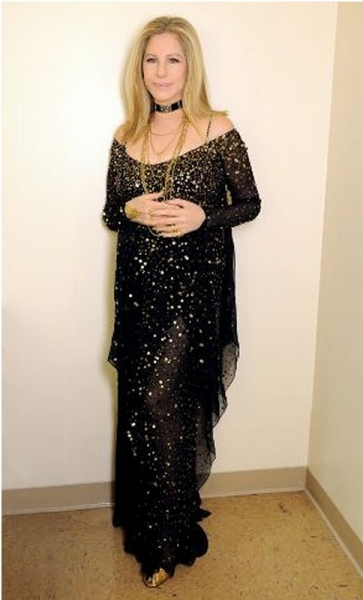 Photo Coverage: Barbra Streisand's Custom Donna Karan Dress