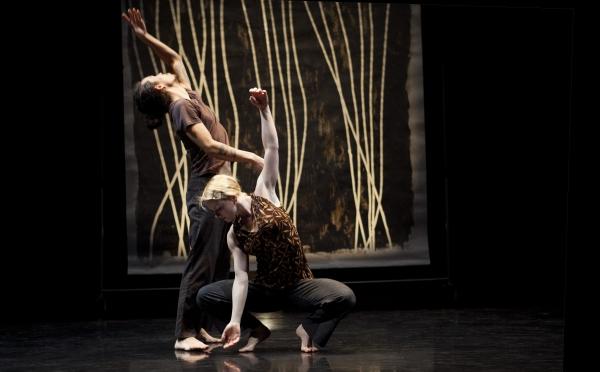 Split Screen Stereophonic (2013) Choroegrapher: Peggy Baker: Dancers Benjamin Kamino, Sarah Fregeau photo credit: John Lauener