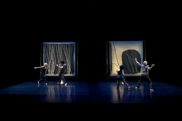 Split Screen Stereophonic (2013) Choroegrapher: Peggy Baker: Dancers: Sarah Fregeau, Benjamin Kamino, Sahara Morimoto, Sean Ling Pianist: John Kameel Farah photo credit: Makoto Hirata