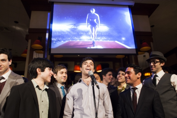Photo Flash: Laura Osnes, Corey Cott and More Gather for BROADWAY WATCHES THE OSCARS!