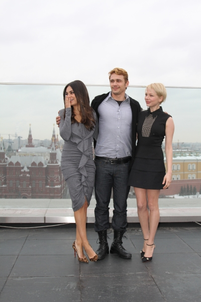 Mila Kunis, James Franco, and Michelle Williams