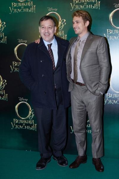 Sam Raimi and James Franco