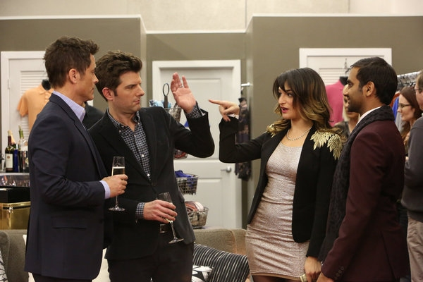 "PARKS AND RECREATION -- ""Bailout"" Episode 515 -- Pictured: (l-r) Rob Lowe as Chris Tr Photo"