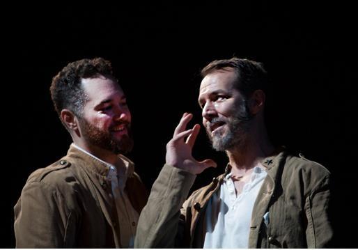 Denis Butkus as Conrade and Paul Niebanck as Borachio. Photo by Henry Grossman.