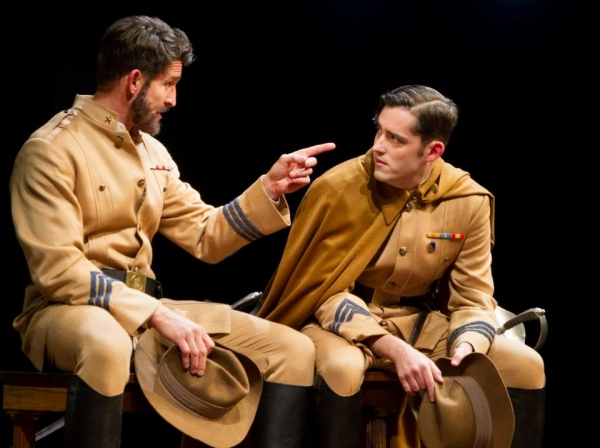 Jonathan Cake as Benedick, and Matthew Amendt as Claudio. Photo by Henry Grossman.
