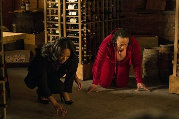 """DECEPTION -- """"You're the Bad Guy"""" Episode 110 -- Pictured: (l-r) Meagan Good as Joanna Padget Locasto, S. Epatha Merkerson as Beverly Padget -- (Photo by: David Giesbrecht/NBC)"""