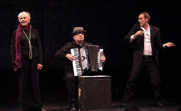 Accordionist Bill Schimmel, Estelle Parsons & Lance Gries