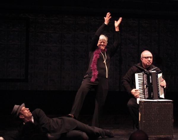 Lance Gries, Estelle Parsons & Accordionist Bill Schimmel