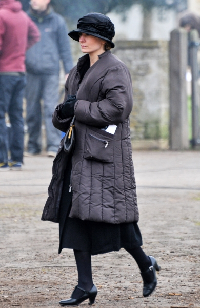 Mandatory Credit: Photo by Joan Wakeham/Rex / Rex USA (1257614h) Anna Bates played by Joanne Froggatt 'Downton Abbey' on set filming, Bampton, Oxfordshire, Britain - 28 Feb 2013 Filming commenced today at Bampton in Oxfordshire, AKA Downton, from the aw