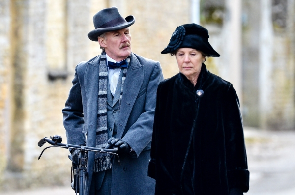 Mandatory Credit: Photo by Joan Wakeham/Rex / Rex USA (1257614o) Dr Clarkson with Isobel Crawley played by Penelope Wilton and David Robb 'Downton Abbey' on set filming, Bampton, Oxfordshire, Britain - 28 Feb 2013 Filming commenced today at Bampton in O