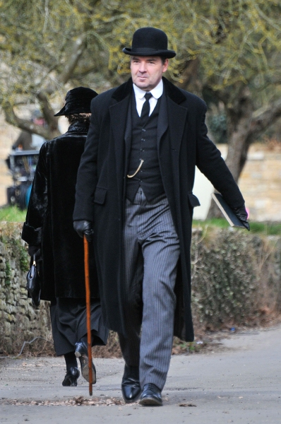 Mandatory Credit: Photo by Joan Wakeham/Rex / Rex USA (1257614v) John Bates played by Brendan Coyle 'Downton Abbey' on set filming, Bampton, Oxfordshire, Britain - 28 Feb 2013 Filming commenced today at Bampton in Oxfordshire, AKA Downton, from the awar