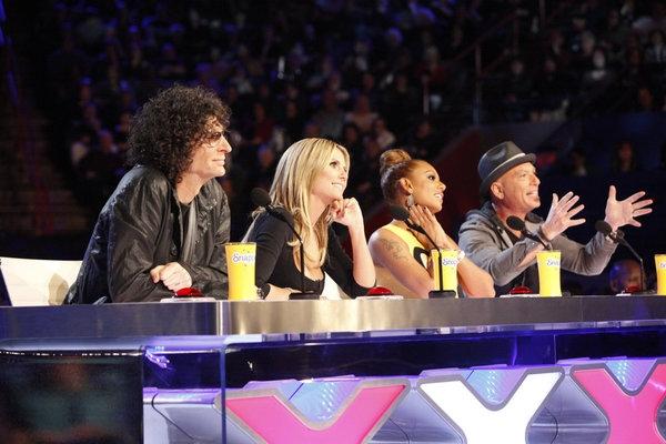 Howard Stern, Heidi Klum, Mel B, Howie Mandel Photo
