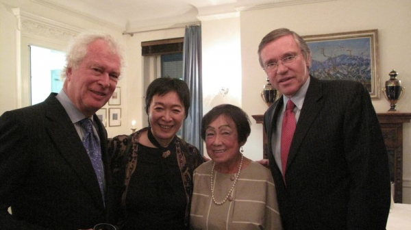 (Canadian ambassador featured in the movie Argo) Ken Taylor, Artistic Director Tisa Chang, Pat Taylor, Swiss Ambassador Francois Barras