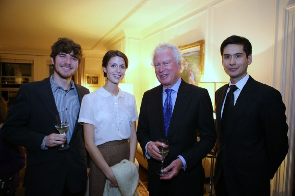 Kevin Brouder, actress Leah Cogan (THREE TREES), Ken Taylor, actor Marcus Ho (THREE TREES)