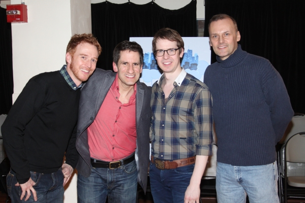 Cast of The Daring Duo:  Paul Castree, Seth Rudetsky, David Turner and William Selby
