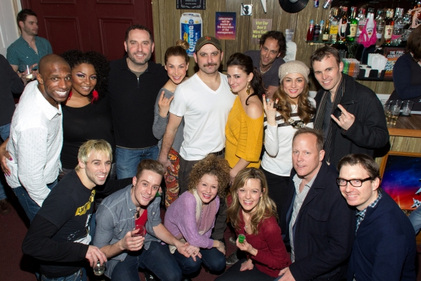 The cast of Rock of Ages with Matthew Weaver and Jonathan Linden