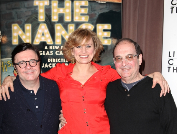 Nathan Lane, Cady Huffman and Lewis J. Stadlen