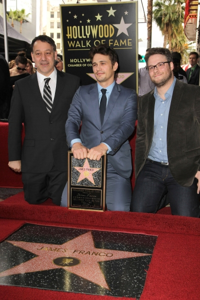 Sam Raimi, James Franco and Seth Rogen