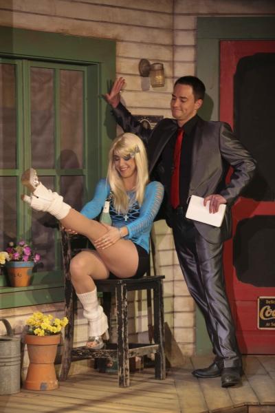 Nina Brissey (as Chastity) and Jonathan Root (as Preacher John Mountain) Photo