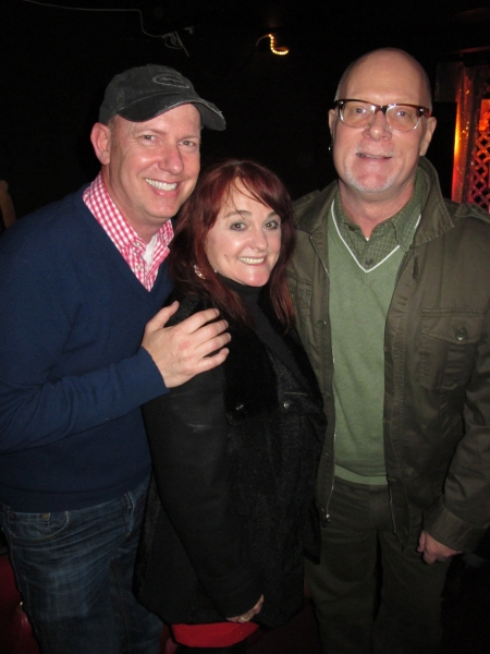 Actor Terry Ray with Julie Brown and friend