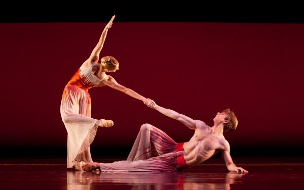 Ballet: PACIFIC. Choreographer: Mark Morris. Dancer(s): Linnar Looris and Melissa Hough.