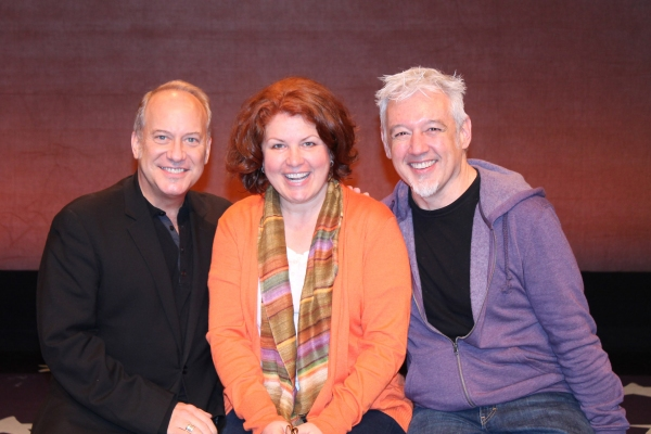 David Andrews Rogers (music director), Klea Blackhurst, and David Glenn Armstrong (di Photo
