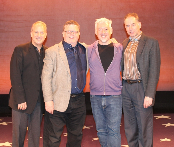 David Andrews Rogers (music director), James Morgan (York Producing Artistic Director), David Glenn Armstrong (director) and Andrew Levine (York Executive Director)