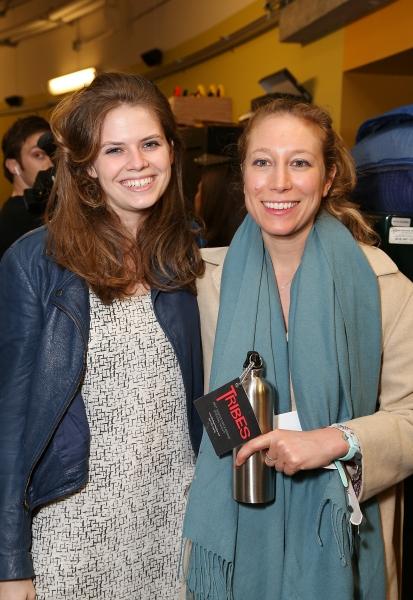 Assistant director Stella Powell-Jones and playwright Nina Raine Photo