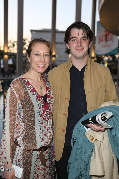 Playwright Nina Raine and Olly Rowse