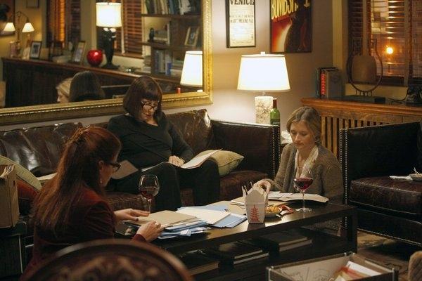 Debra Messing, Anjelica Huston, Grace Gummer