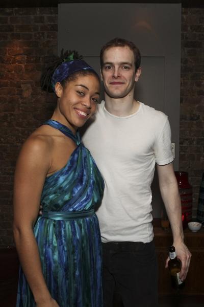 Cast members Matthew Barker and Rhiannon Harper-Rafferty Photo