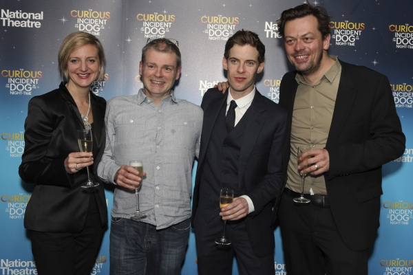 Marianne Elliot, Mark Haddon, Luke Treadaway and Simon Stephens Photo