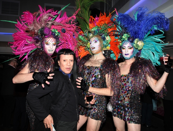 Joey Arias with Drag Queen Party Guests