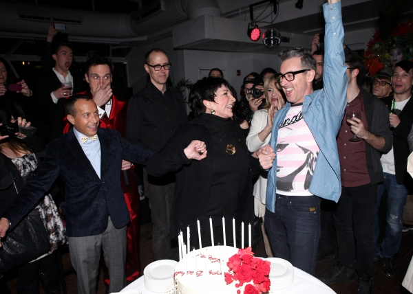 Scott Gorenstein, Daniel Nardicio, Grant Shaffer, Liza Minnelli & Alan Cumming