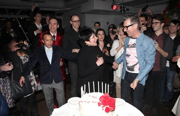 Scott Gorenstein, Daniel Nardicio, Grant Shaffer, Liza Minnelli & Alan Cumming