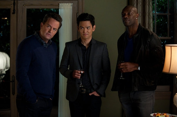 Matthew Perry, John Cho, Terrell Owens Photo