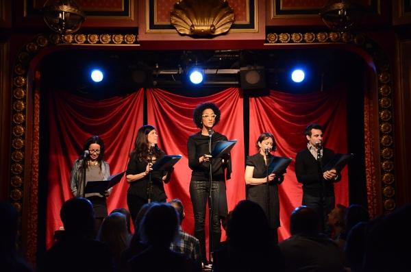 "Janeane Garofalo, Dayle Reyfel, Carla Hall, Rachel Dratch and Mario Cantone read ""Momoirs""."