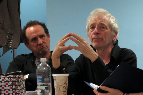 Jeremiah Kissel with director Austin Pendleton in rehearsal for THE LAST WILL.