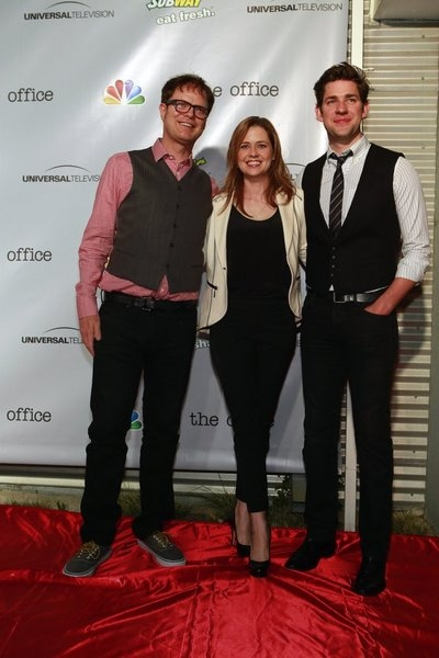 Rainn Wilson, Jenna Fischer, John Krasinski Photo