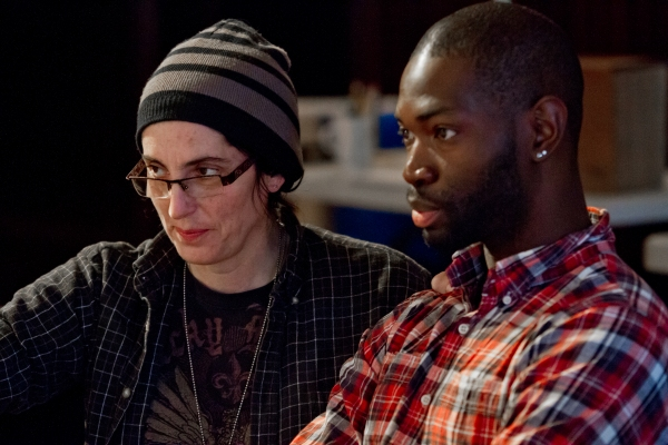 ) Ensemble members Tina Landau and Tarell Alvin McCraney, director and playwright